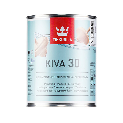 Кива 30 полуматовый лак – Kiva 0,9л