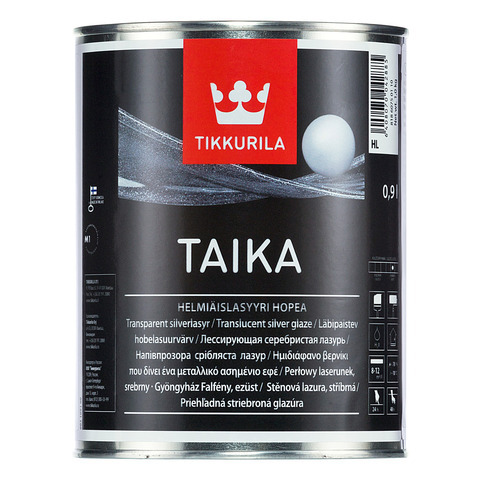Тайка одноцветная перламутровая лазурь - Taika HL (серебристая) 1л