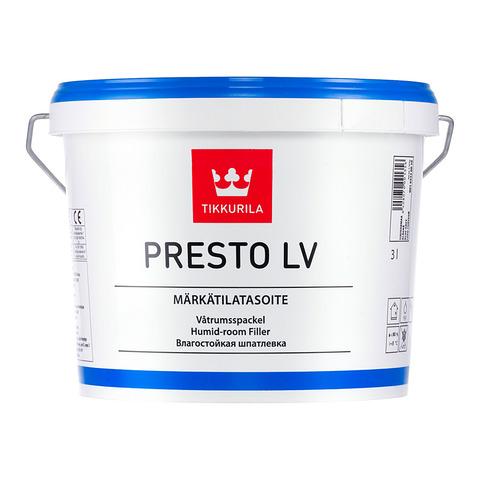 Престо ЛВ 3л влагостойкая шпатлевка