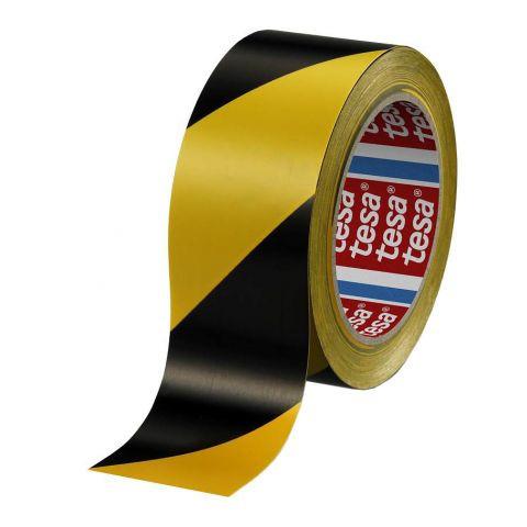 Стрічка сигнальна для підлоги чорно-жовта